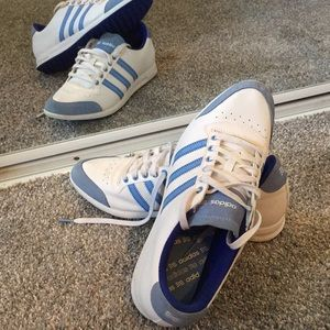 Adidas Tennis Shoes Blue and White